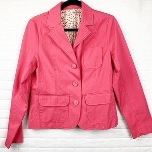 Old Navy coral button jacket size large EUC